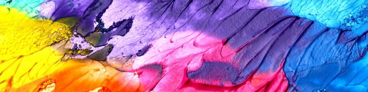 Maleri i mange stærke farver