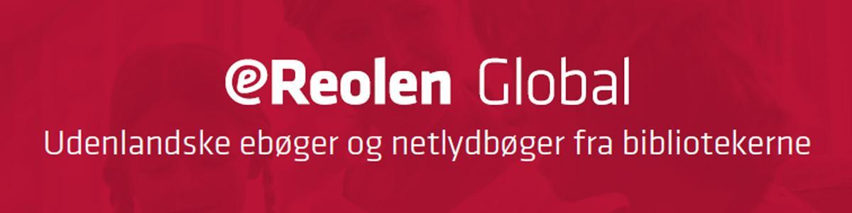 eReolen Global logo i hvid og rød