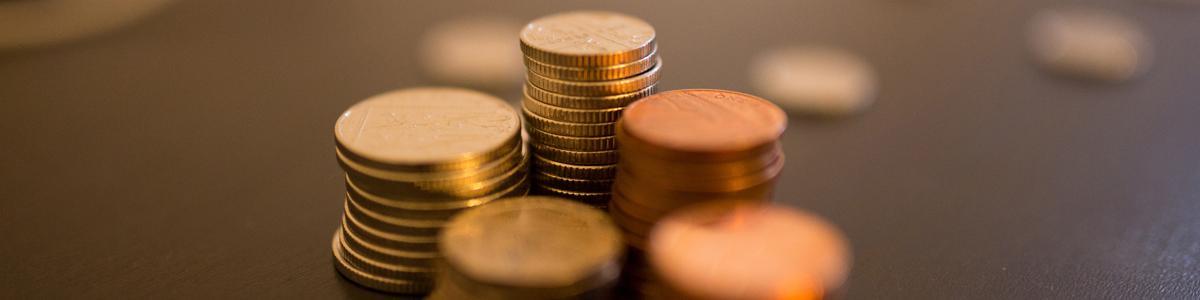 Mønter i stabler