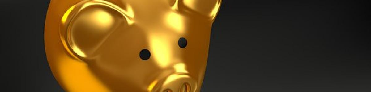 Guldfarvet sparegris