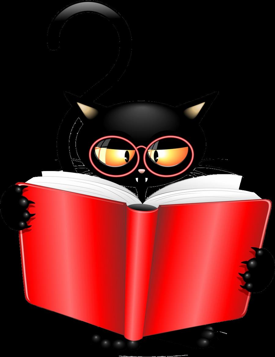 billede_af_sort-kat_som_læser_i_rød_bog