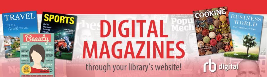 En reklame for RB digital - elektroniske tidsskrifter
