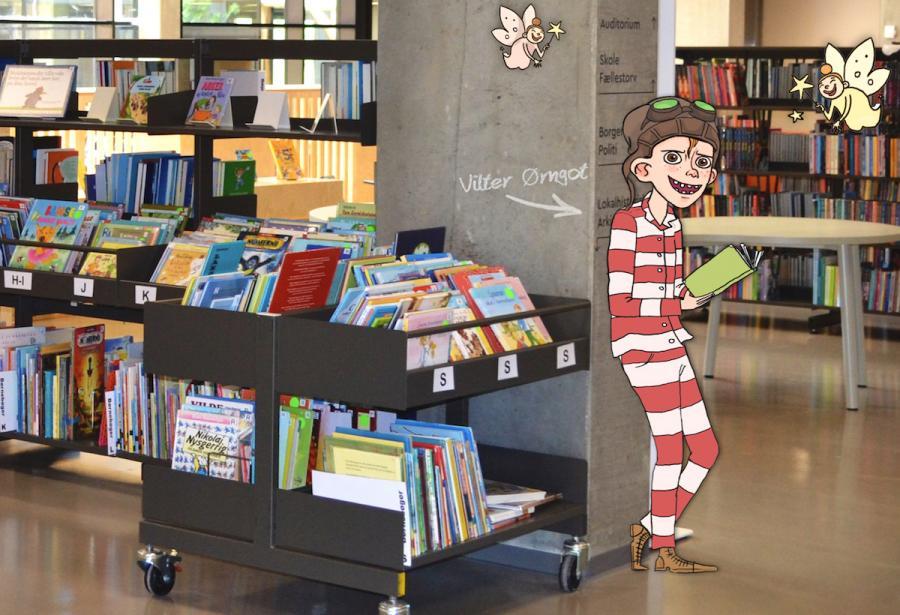 Billedet forestiller Vilter Ørngot på Brande bibliotek.